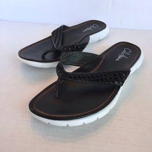Cole Haan Black Flip Flops